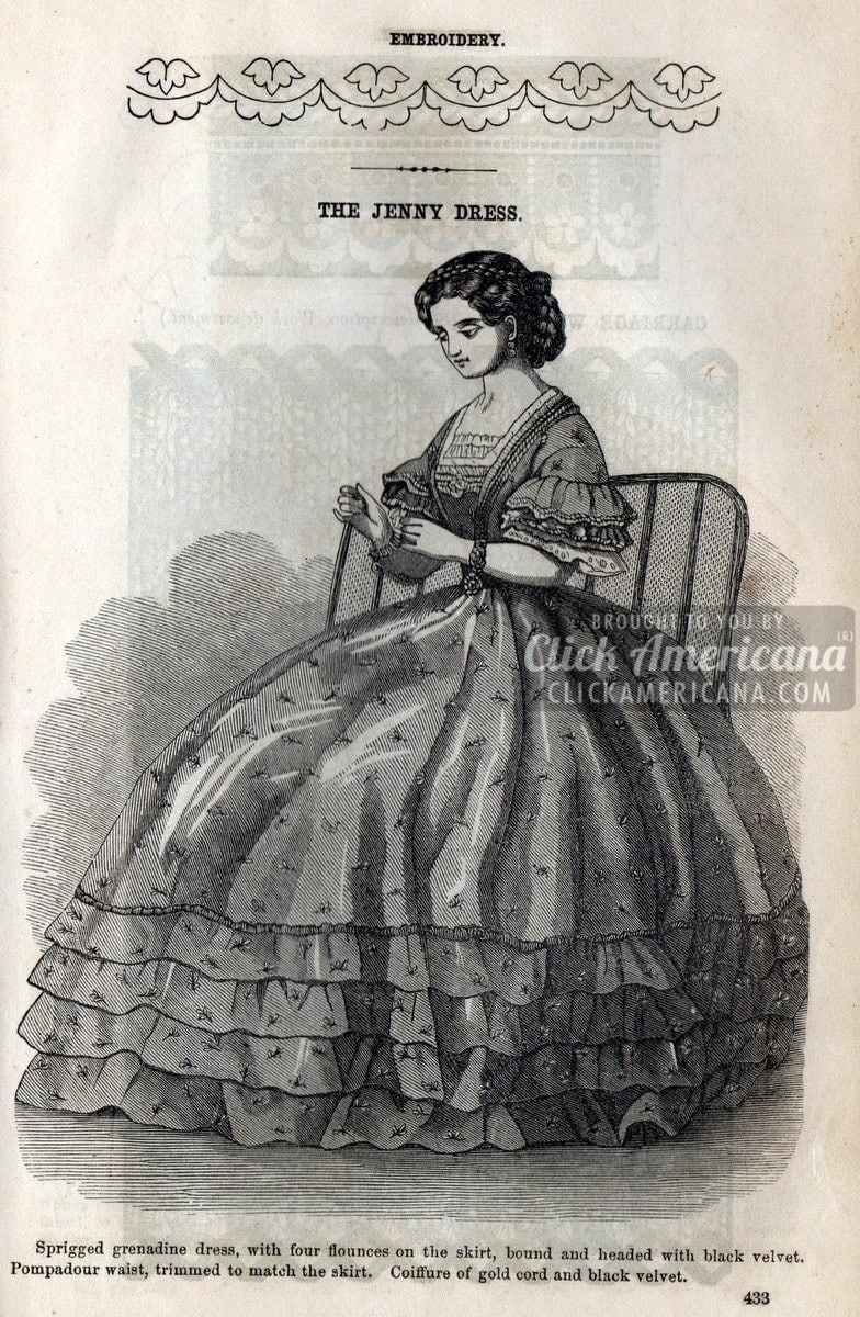 8 Civil War Era Dresses For Women 1862 Click Americana