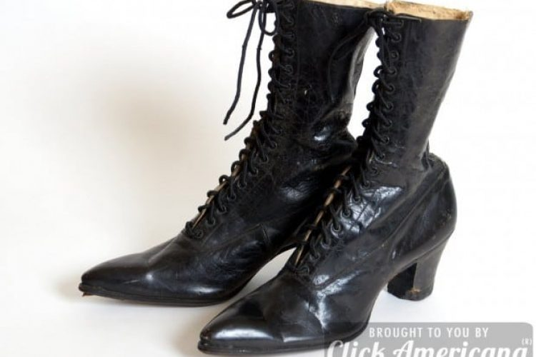 Up Close Antique Leather Lace Boots