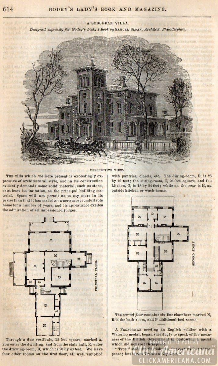 Classic Home Design Suburban Villa 1862 Click Americana