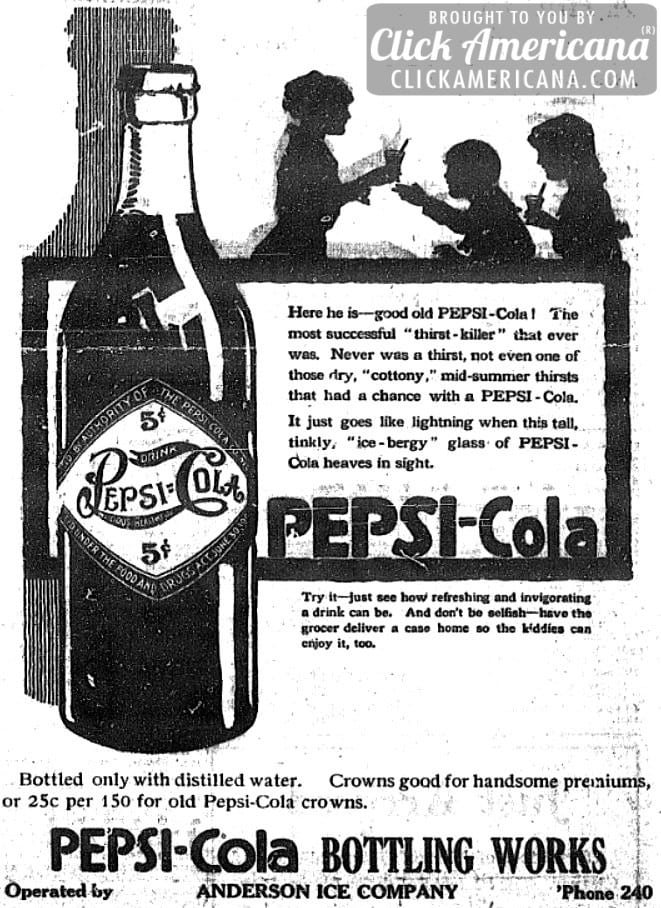 Pepsi Cola: Bracing & invigorating to start the day right (1916)