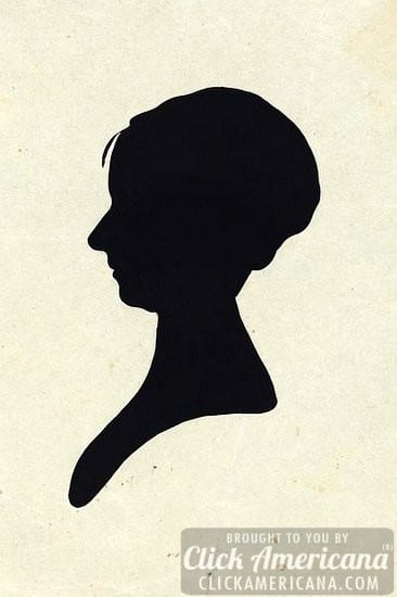 The bust silhouettes below created by artist charles willson peale