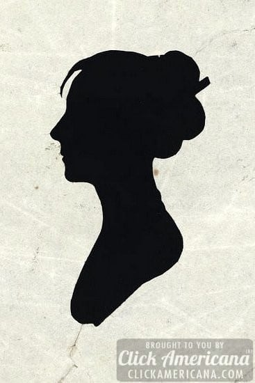 Old bust silhouettes