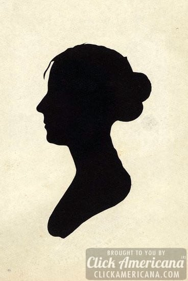Vintage bust silhouettes