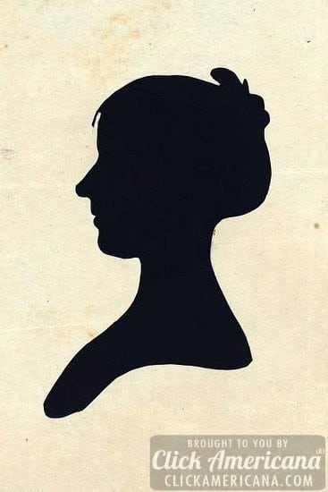 Antique silhouettes of women (1760-1827)