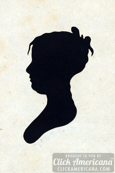 antique bust silhouettes
