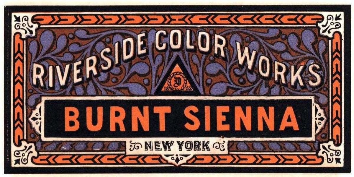 Riverside color works Burnt Sienna paint