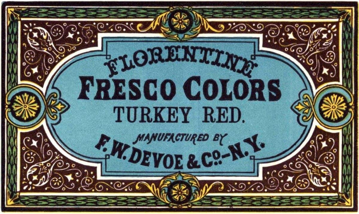 Florentine Fresco Colors - Turkey Red