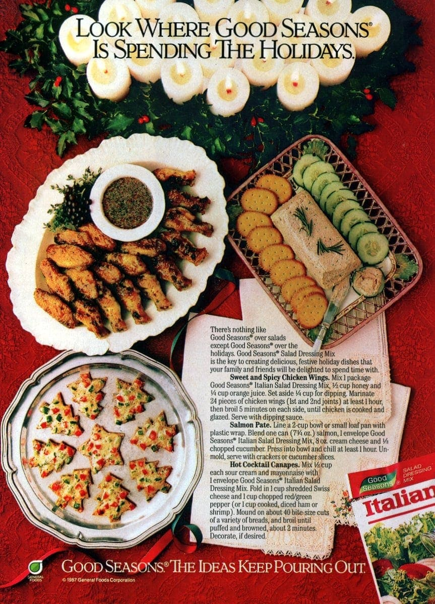 Classic Christmas Food And Drink