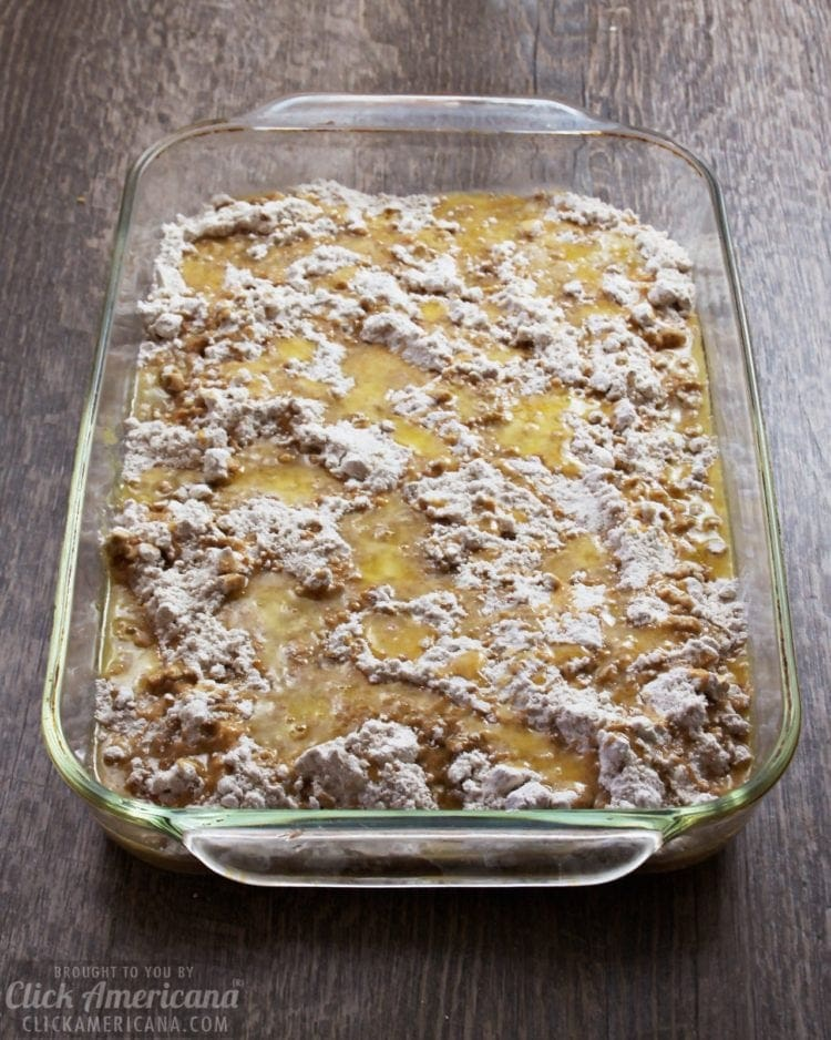 Apple-spice dump cake recipe steps 2 & 3