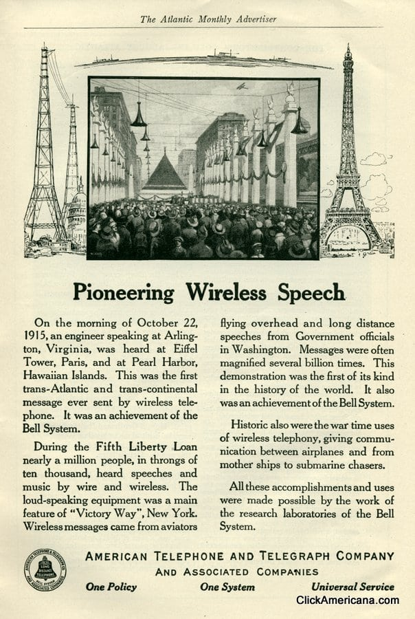 AT&T: Pioneering wireless speech (1919)
