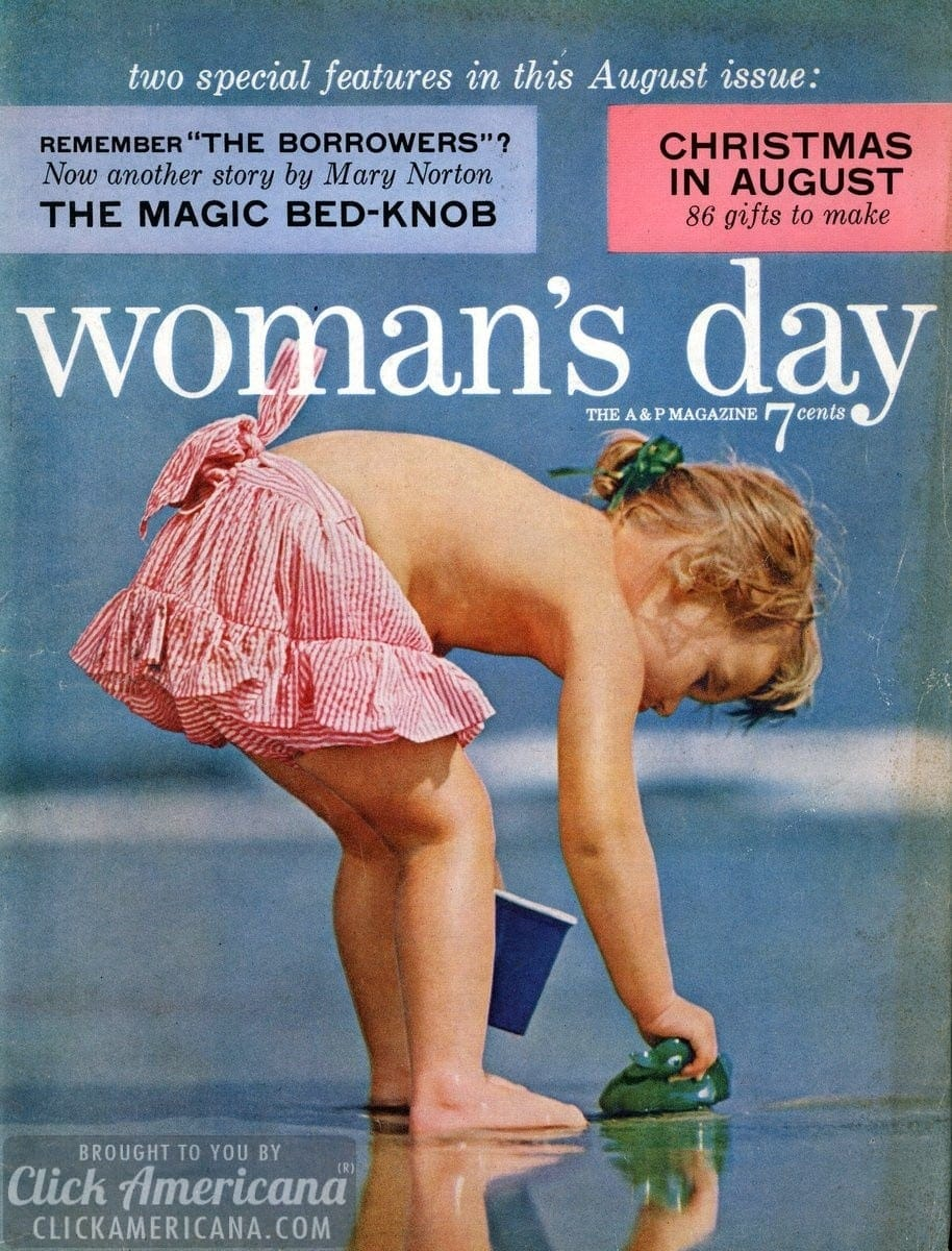 Woman's Day magazine covers: August 1955