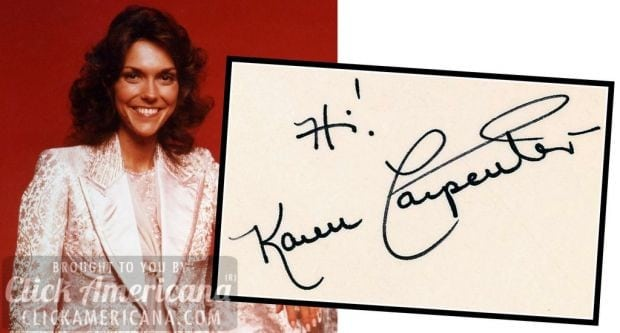 autograph-karen-carpenter