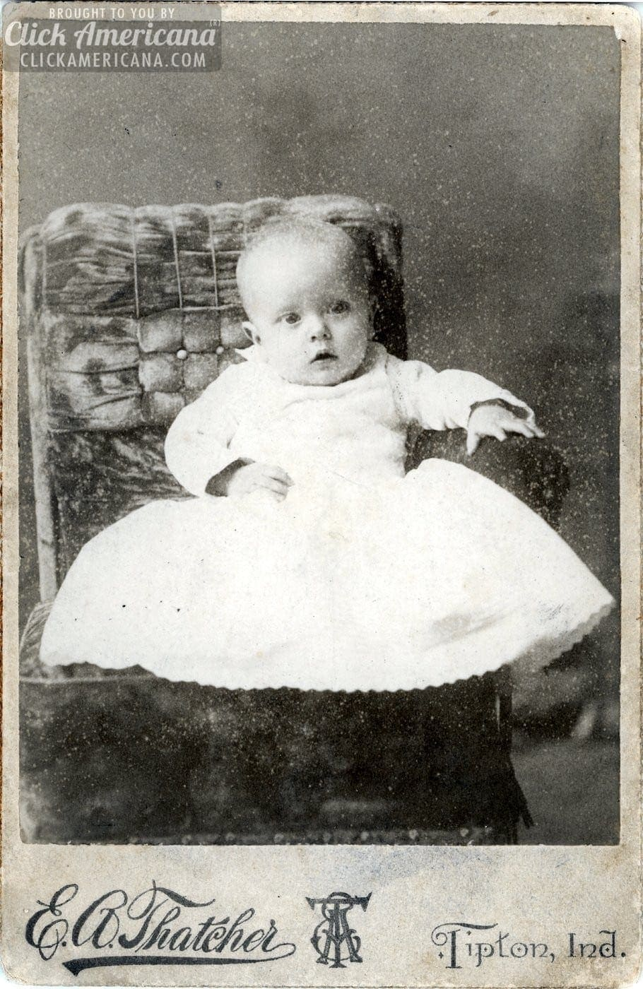 Antique babies: Cabinet card portraits of baby boys & girls