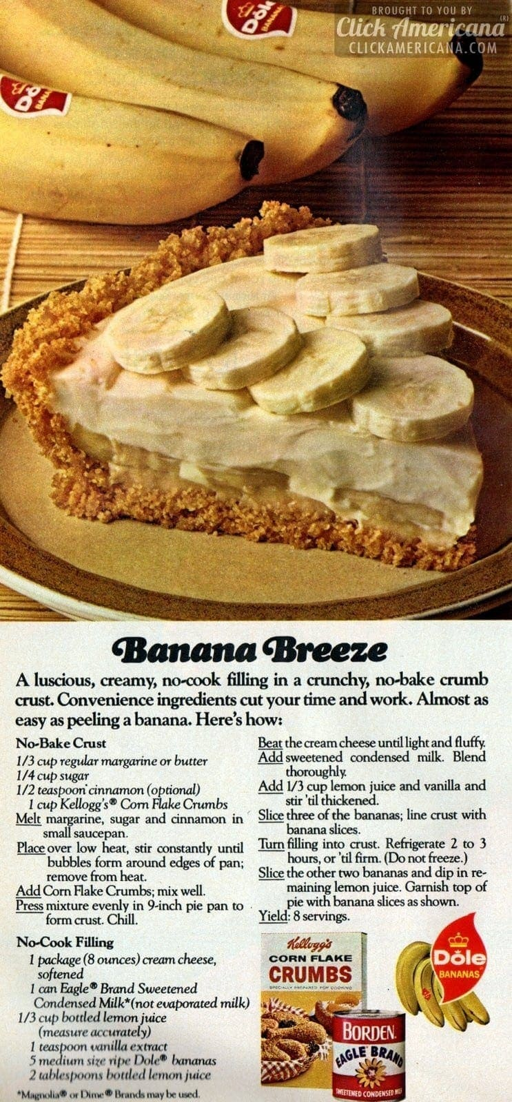 No-cook banana cream pie, Fruit crunch cake & Almond pear parfait recipes