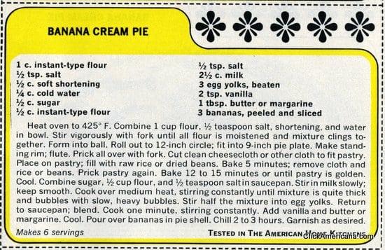 banana bread recipe card - photo #43