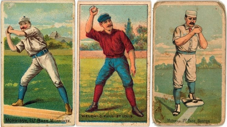 Antique baseball cards