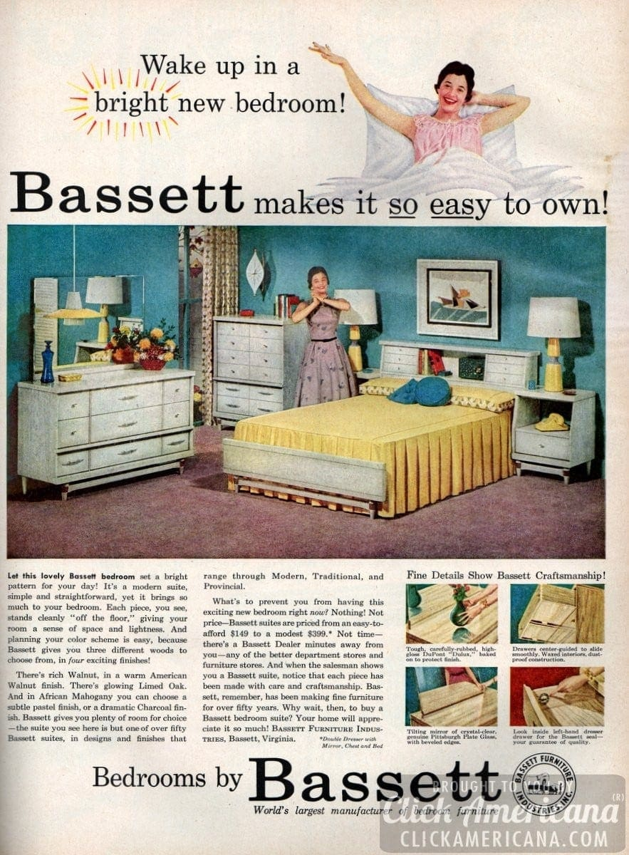 Wake Up In A Bright New Bedroom 1956 Click Americana