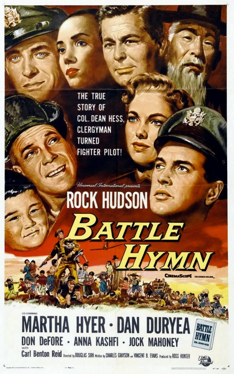 battle hymn movie poster rock hudson 1957