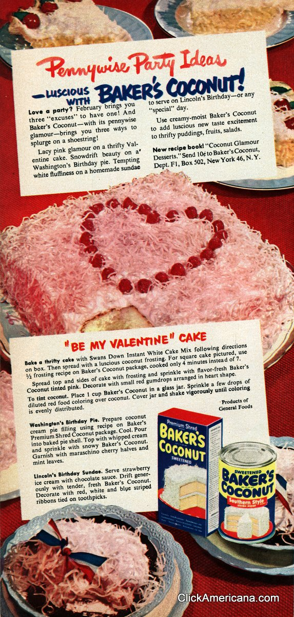 Be My Valentine Cake & Washington's Birthday Pie (1950)