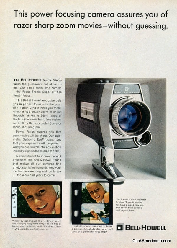 Bell & Howell movie cameras (1965 & 1966)