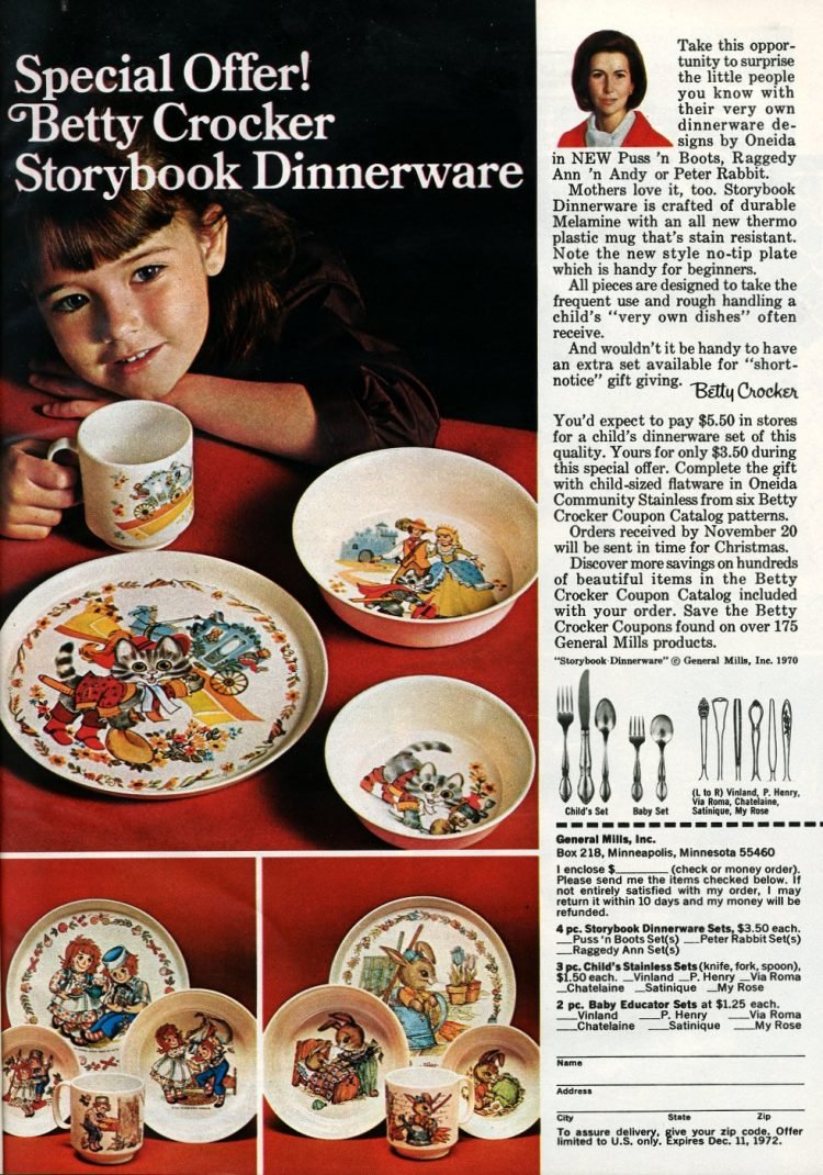 Special Offer! Betty Crocker Storybook Dinnerware
