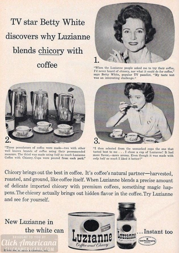 Betty White for Luzienne coffee