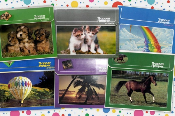 12 totally trendy '80s Trapper Keeper notebooks & binders