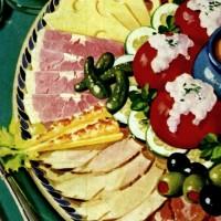 Vintage charcuterie boards: 15 cool cold cut menu ideas (1955)