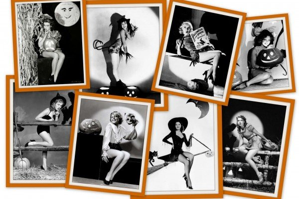 17 Vintage Halloween pin-up girls from the '30s & '40s for a different kind of pumpkin cheesecake