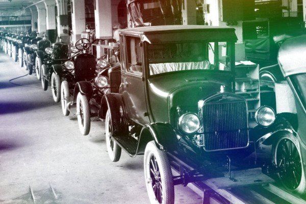 See Ford assembly lines from 100 years ago, mass-producing Model T cars