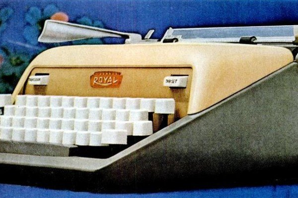 When portable manual typewriters started to get fancy with office typewriter features in the '50s
