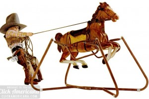 Wonder horses! See vintage ride-on spring horse toys from the '50s to the '80s