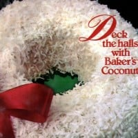 7 retro recipes for clever coconut Christmas cakes, including a snowman, gifts & a candy cane