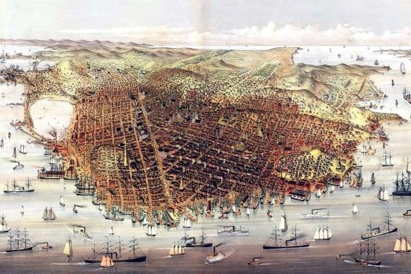 19th century San Francisco skyline