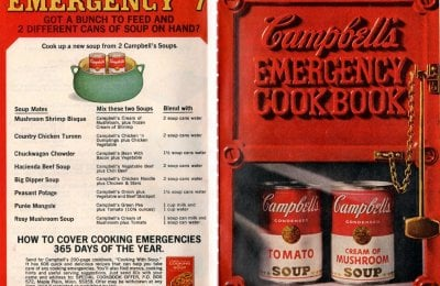 20 recipes from Campbell's emergency dinner cookbook (1968)