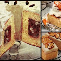 3 easy vintage dessert recipes: Chocolate tunnel cake, Honey almond squares & Peach snowball (1982)