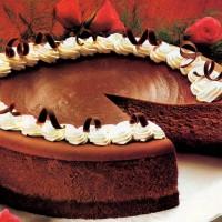 Try this classic chocolate fudge truffle cheesecake recipe from Hershey's