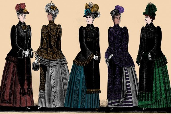 Antique women's clothing from 1890: See the styles Victorian ladies were wearing