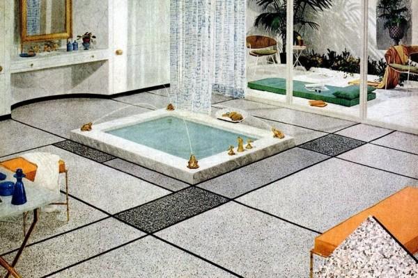 Bathroom floors from the '50s