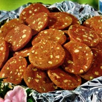 Brownie icebox cookies, made with brownie mix