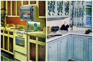 18 cute & cheap kitchen cabinet facelift ideas from the '60s & '70s