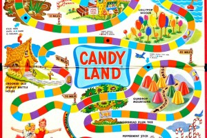 Look back at Candy Land, the vintage board game that made millions of kids dream of an ice cream & lollipop world