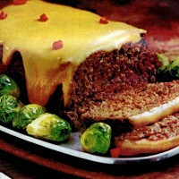 Make a classic cheese-sauced meatloaf with this retro recipe from the '70s