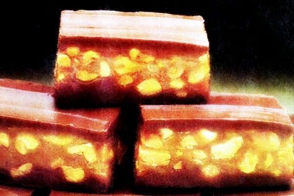 Chocolate caramel nut bars vintage recipe