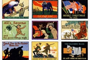 See 45 patriotic vintage WWI-era Christmas cards for US soldiers & others serving during the war in 1918
