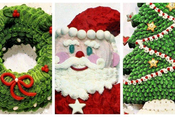 6 cute retro Christmas cake decorating ideas from the '80s