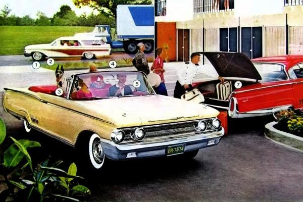Classic 1960 Mercury cars: Monterey & Country Cruisers