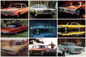 Classic Chrysler Newport cars from the '60s & '70s