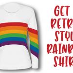 80s-style rainbow shirt