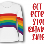 Get a brand-new version of the popular '80s-style rainbow shirt!